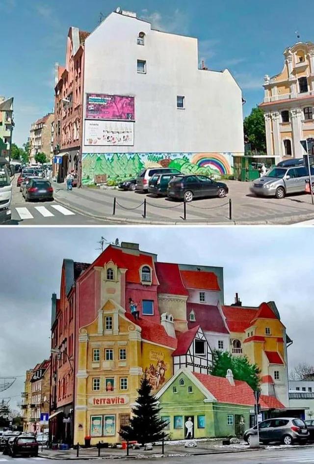 Просто разрисованный дом