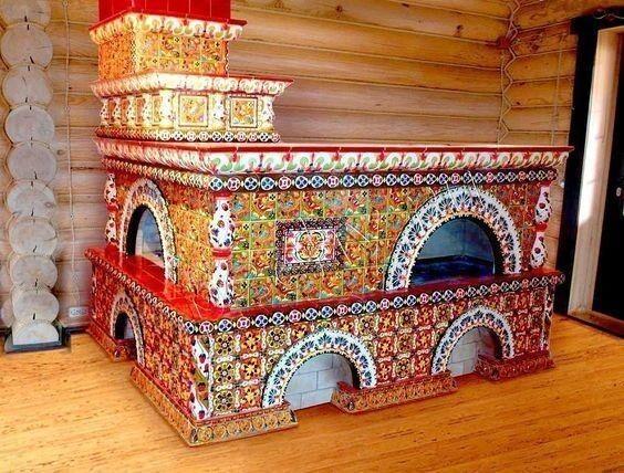 Первые дымоходы появились к XV веку, а к началу XVII века печи стали изготавливаться из огнеупорного кирпича