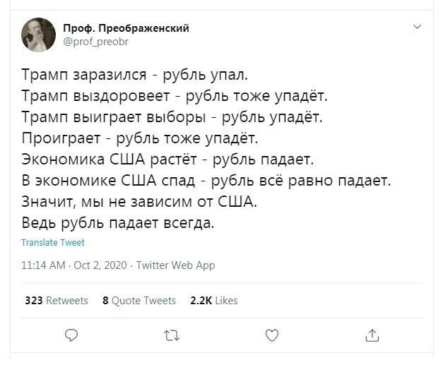 Россиян больше всего волнует рубль... и та заколдованная история, которая с ним постоянно происходит