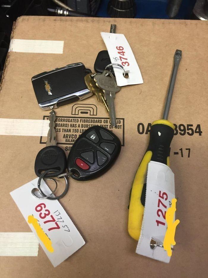 36. Клиент предоставил «ключ» от авто.