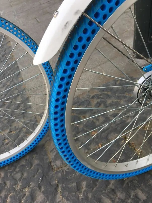 Безвоздушные шины для велосипеда.