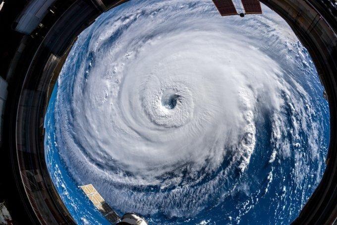 Ураган Флоренция, снятый с Международной космической станции