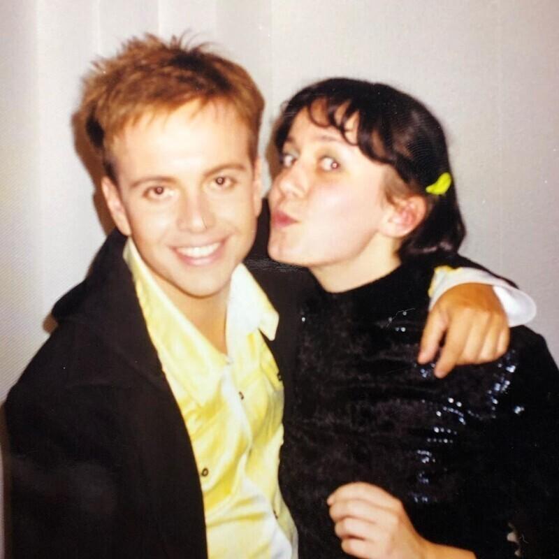 Андрей Губин с журналисткой Ксенией Осмоловской, 1998