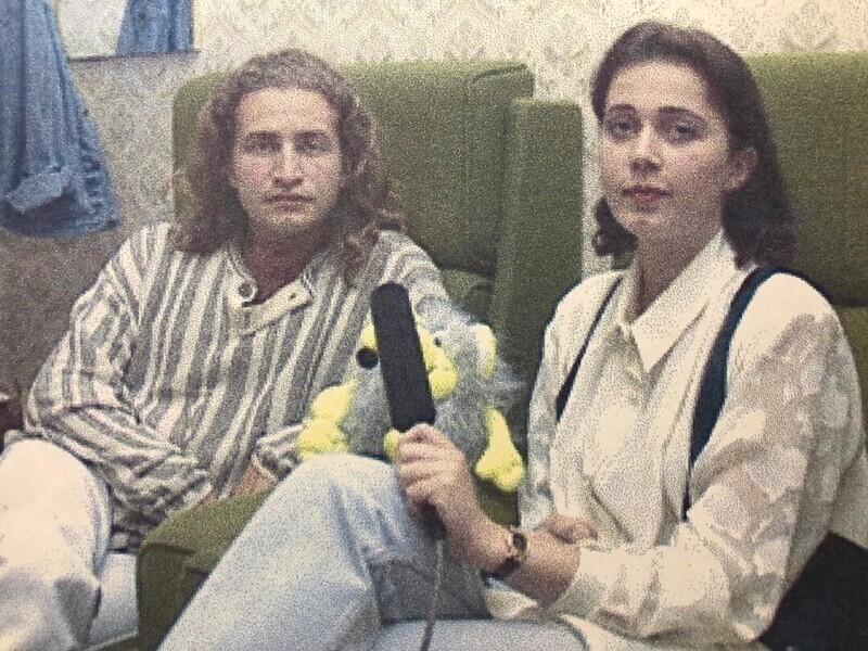 Леонид Агутин во время интервью, 1996 год