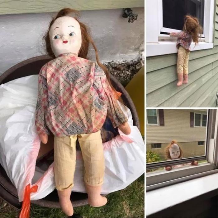 7. «Моя дочь только что приобрела дом, построенный в конце 19-го века. Она нашла эту куклу и выбросила ее, а я достал ее из мусора: да начнутся игры».