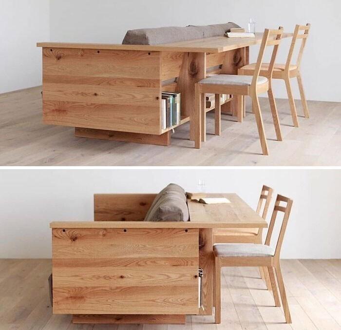 21. Идеальное сочетание дивана и рабочего места