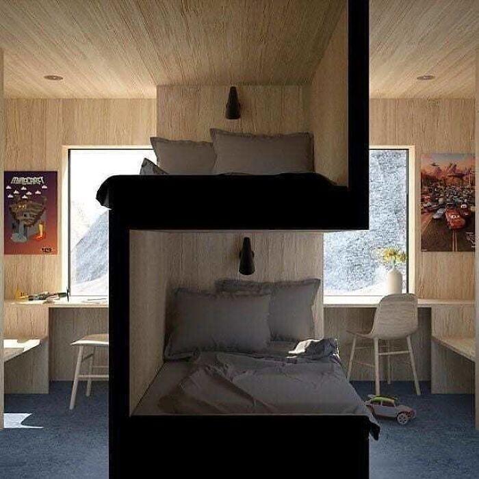 9. Необычная двухъярусная кровать