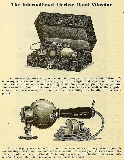 Массажер-вибратор, начало 20-го века. Во что оно переросло надеюсь всем понятно