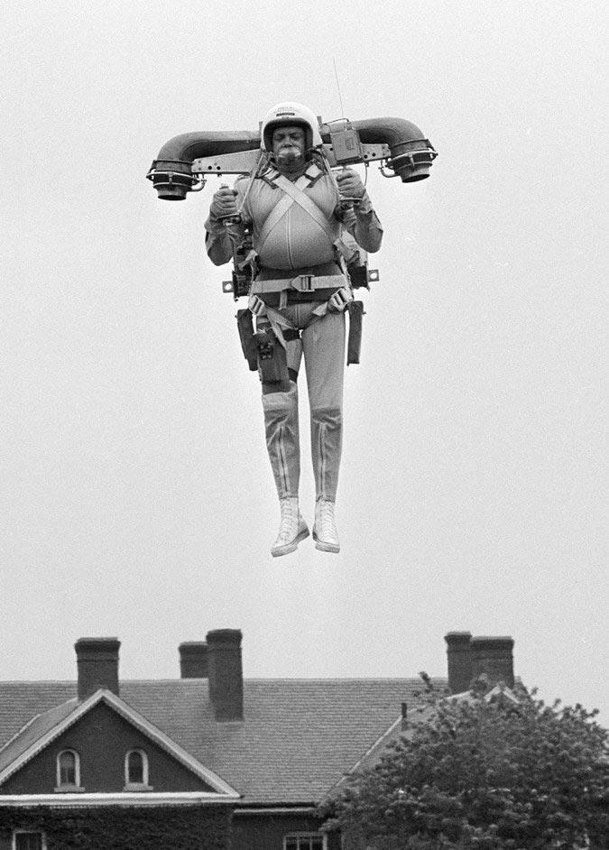 Реактивный ранец, 1969 год. Мы пока еще только тестируем подобное...