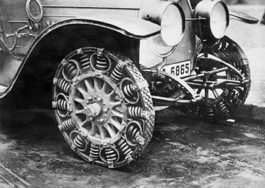 """Пружинные шины начала 20-го века, которые сегодня только-только """"изобретают"""""""