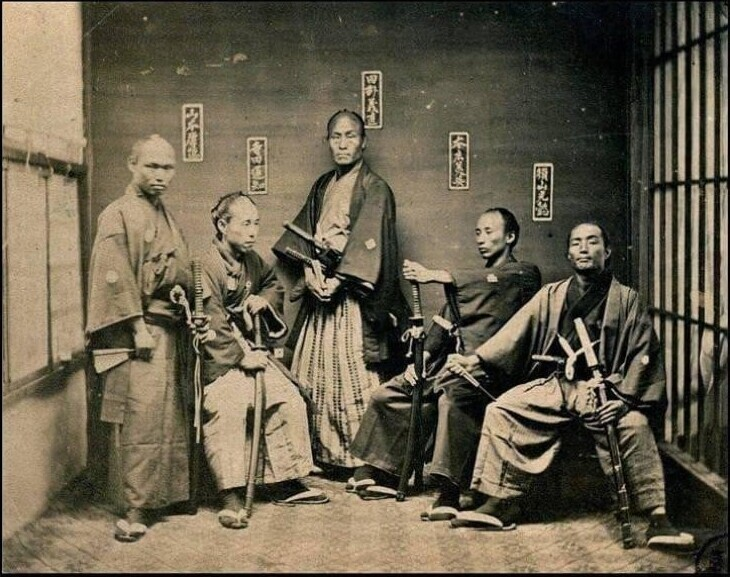 Отряд самураев, конец 1800-х годов