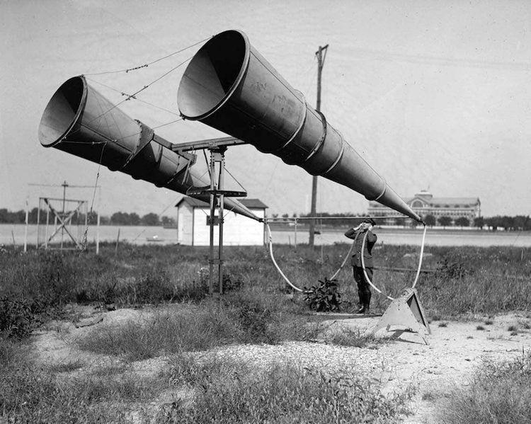 Устройство для обнаружения самолетов до изобретения радара, 1917 год