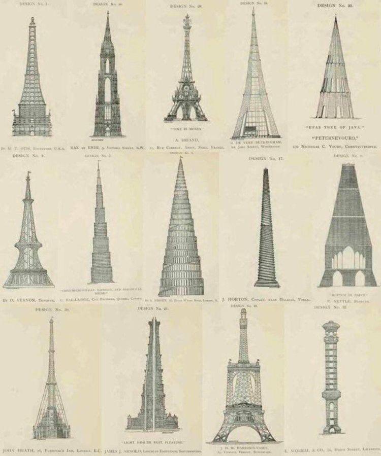 Отклоненные проекты Эйфелевой башни