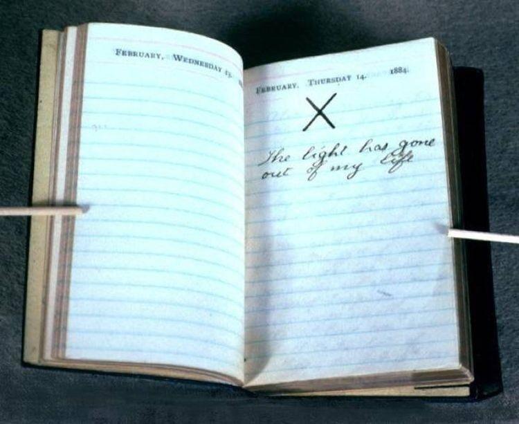 Запись в дневнике президента США Теодора Рузвельта в тот день, когда его жена и мать умерли с разницей в несколько часов