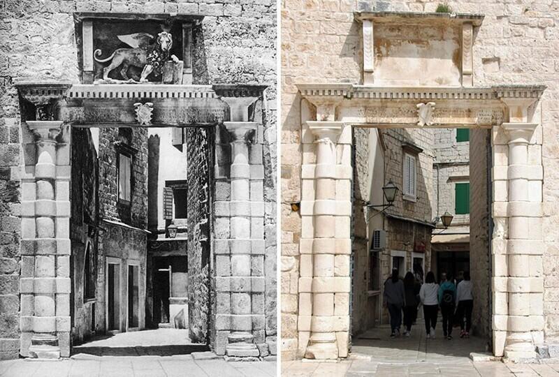 Городские ворота, Трогир, Хорватия, 1926 - 2019