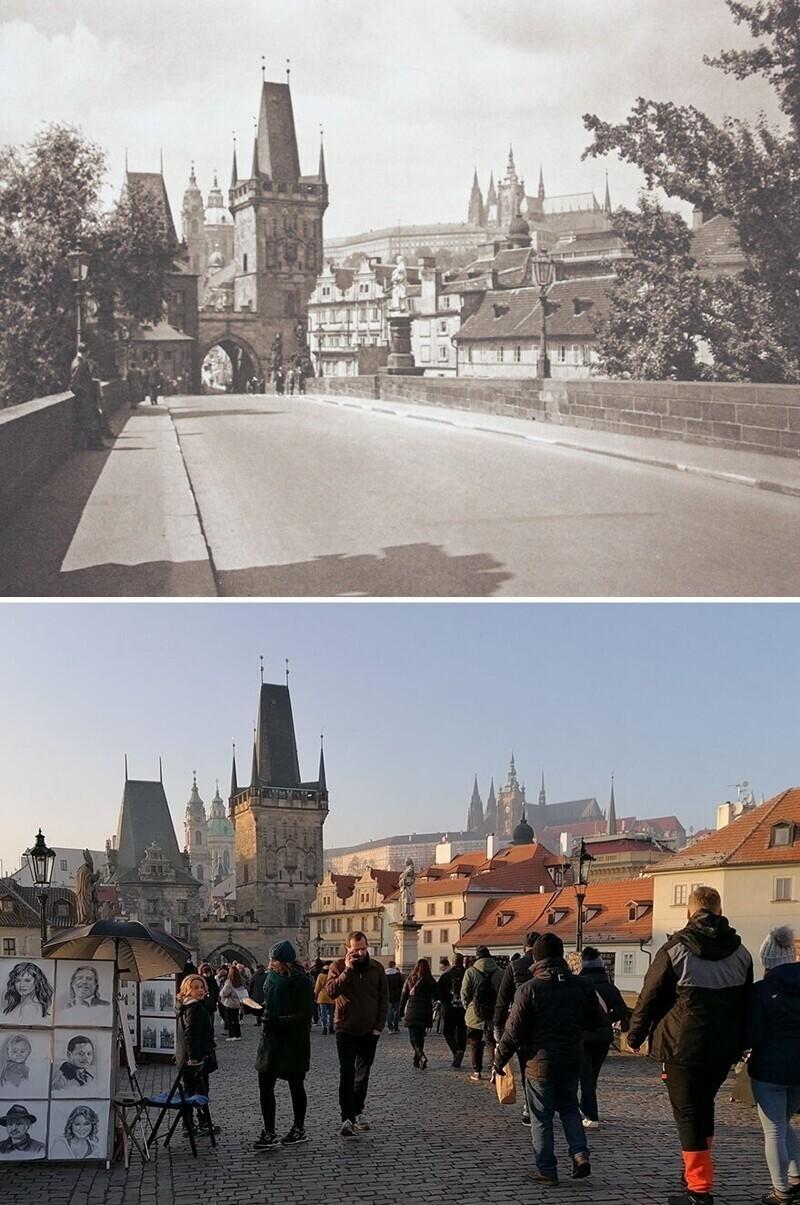 Карлов мост, Прага, 1941- 2020