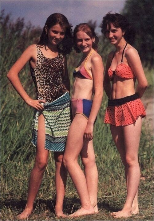 В деревне летом 1970-е.