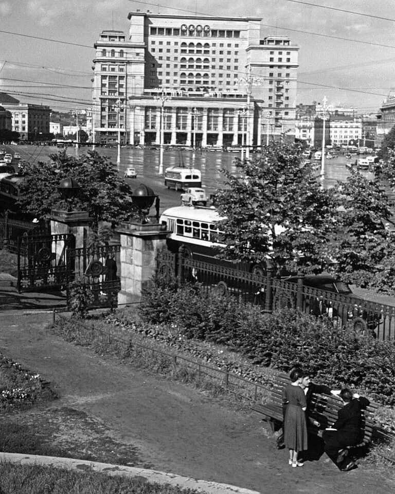 Сквер журфака МГУ, 1956г.