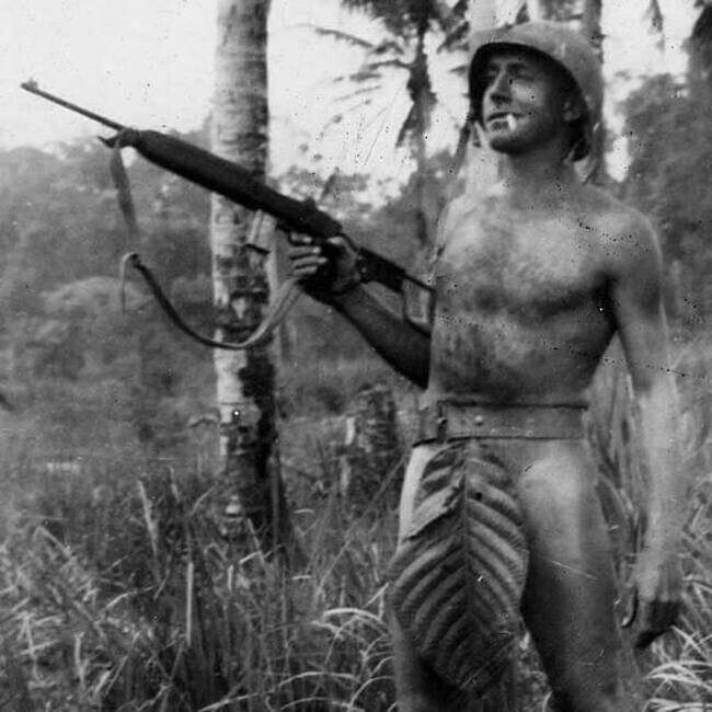 Морской пехотинец США на островах в Тихом Океане, 1941 – 1945 год.