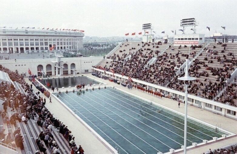 Соревнования в Лужниках. 1950-е