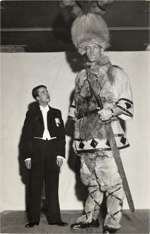 Артист исландского цирка и актер Йохан Петурссон, 1930-е годы