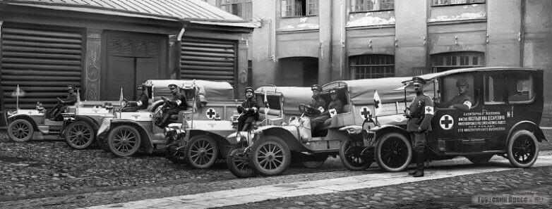 Санитарная колонна имени Наследника Цесаревича ИРАО при поезде Его Императорского Высочества, 6 сентября 1914 года, Петроград