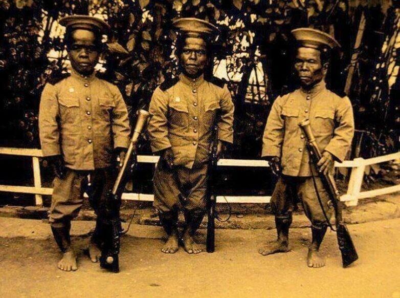 Королевские гвардейцы Сиам, Таиланд. 1900-е