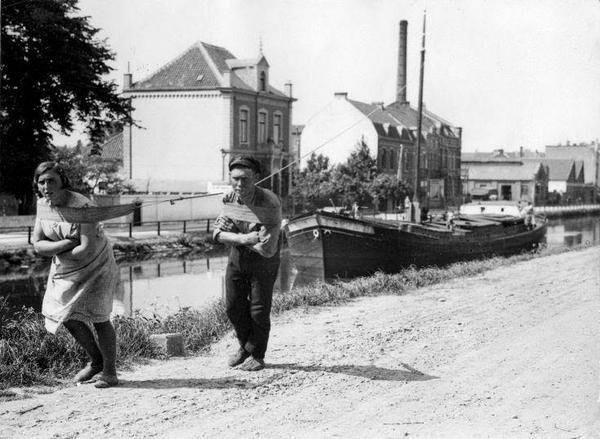 Голландские бурлаки. Нидерланды. 1931г.