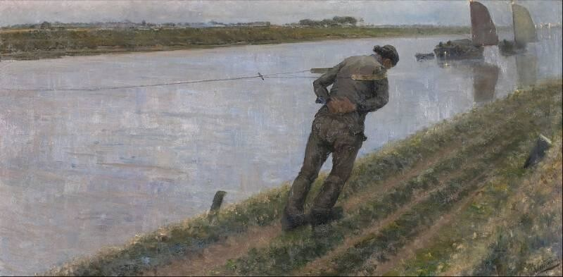 Работа бурлаков нашла отражение во многих произведениях искусства
