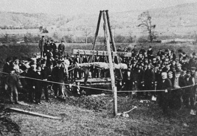 Мистификация из прошлого. В  октябре 1869 года народ всколыхнула история про Кардиффского гиганта