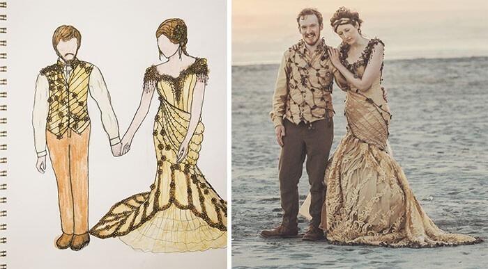 """""""Наши наряды на свадьбу. Как вам мое платье лесной феи?"""""""