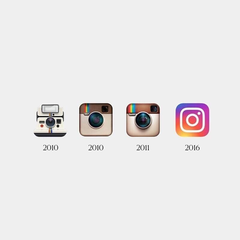 Примеров пока немного, здесь: Nike, Versace, Barbie, Tropicana, Instagram, The Gap, Apple, зато дизайнеры показали изменения на разных отрезках времени, которые кроются в деталях