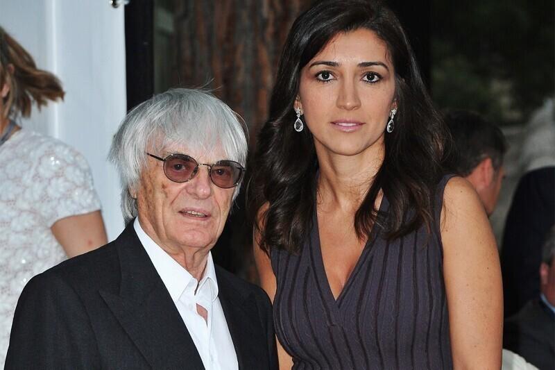 """Берни Экклстоун (89 лет) - бывший руководитель """"Формулы-1"""" и его 44-летняя супруга Фабиана Флози"""