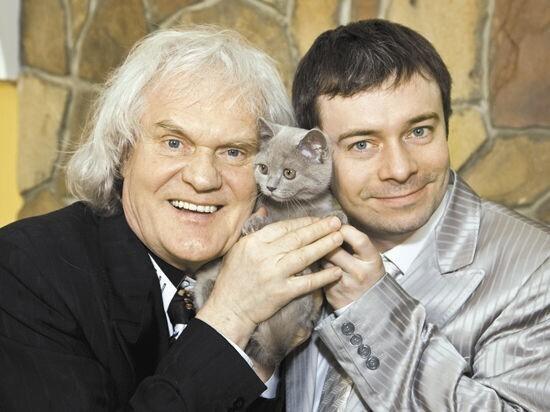 Юрий Куклачев с сыном Дмитрием