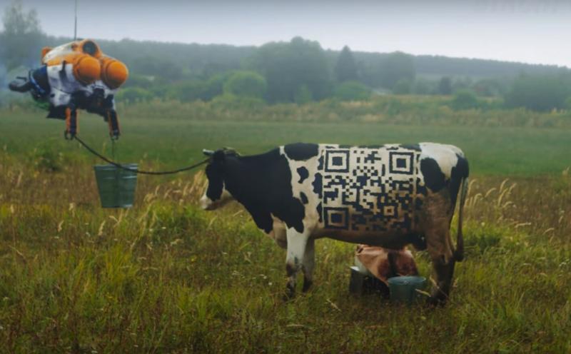 Русский фермер с дроном на атомном комбайне.