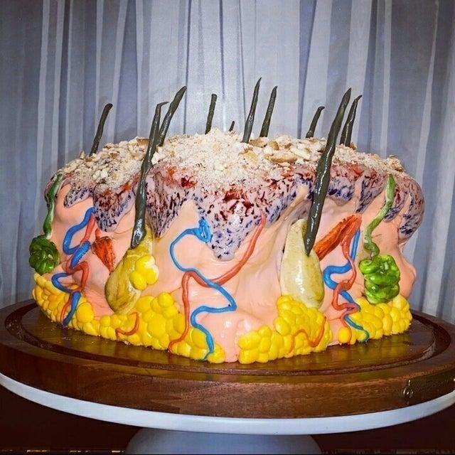 """Торт в виде кожи, наверное """"очень аппетитно"""""""