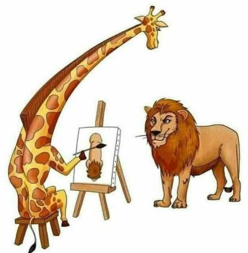 Жираф большой — ему видней!