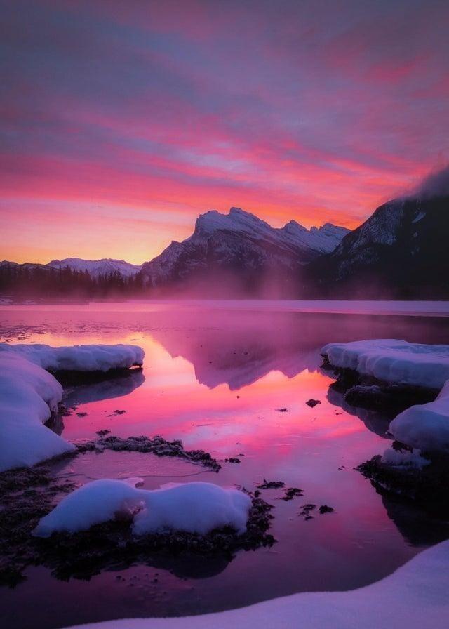 Рассвет, Национальный парк Банф, Вермиллион Лейкс