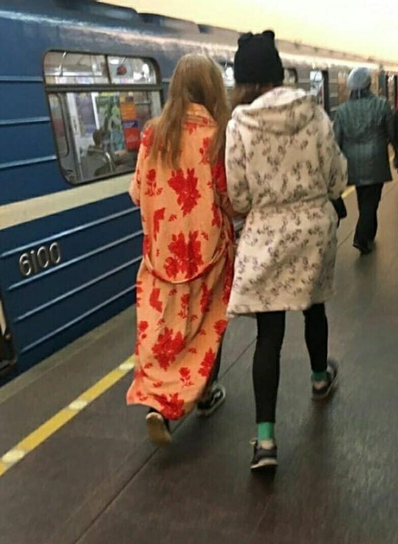 Питерское метро и его особая мода