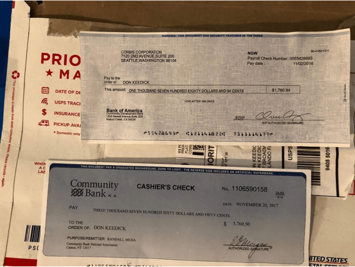 Интернет-мошенники прислали чеки, указав вместо имени ник
