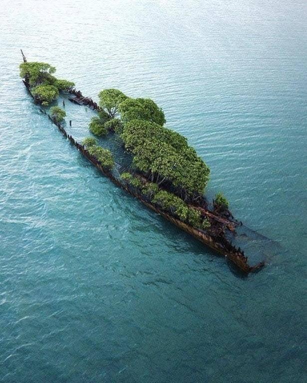 SS City of Adelaide, потерпевший крушение у побережья Магнетик-Айленд