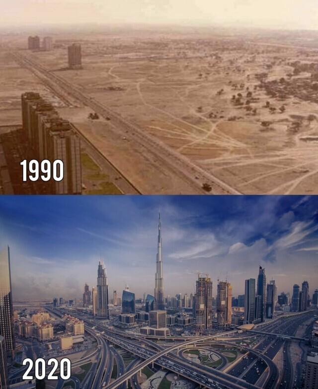 Дубай, ОАЭ, 1990 и 2020