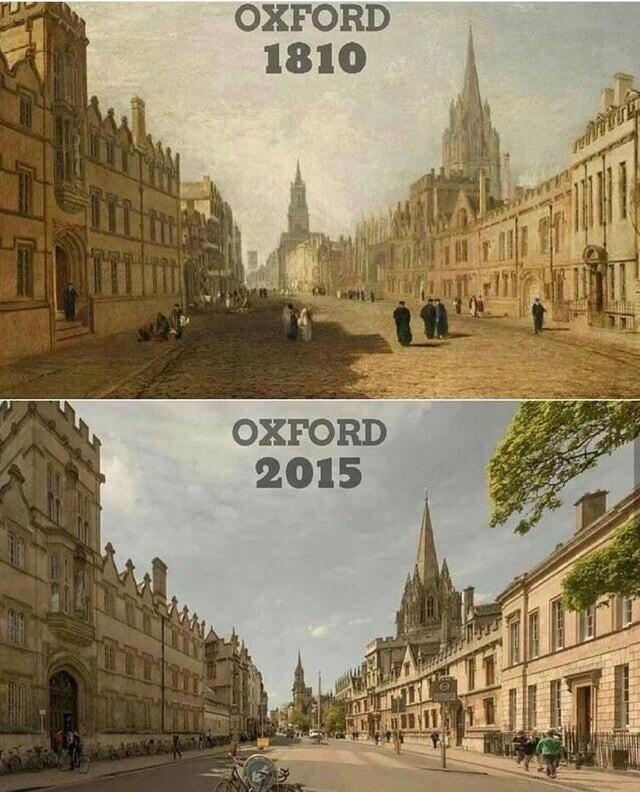 Оксфорд, Великобритания, 1810 и 2015 годы