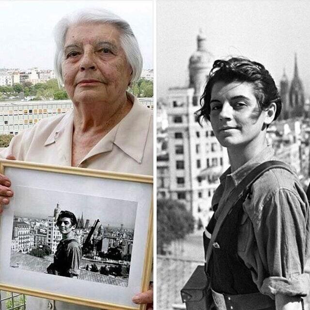 Марина Жинеста, каталонская участница гражданской войны в Испании, член интернациональной бригады. 2016 и 1936 годы