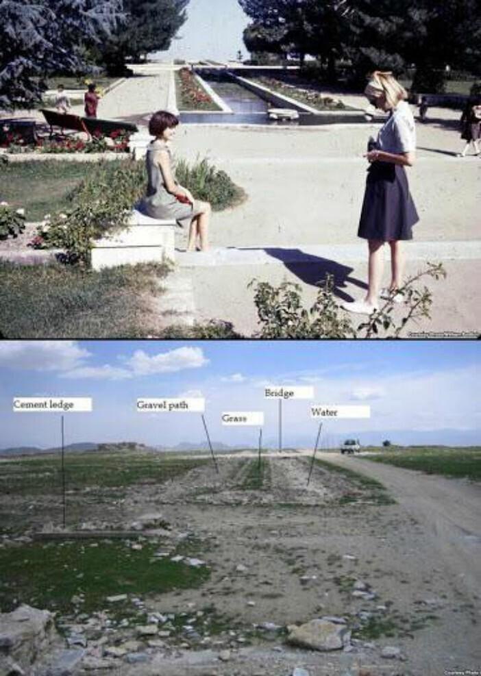 Кабул, Афганистан, 1967 год и 2007 год. Первая фотография показывает, какой была жизнь до захвата власти талибами