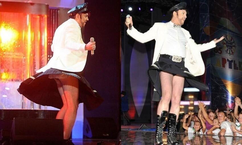 Филипп Киркоров и модная шотландская юбка