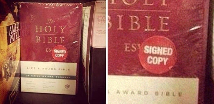 Библия - подписанная копия