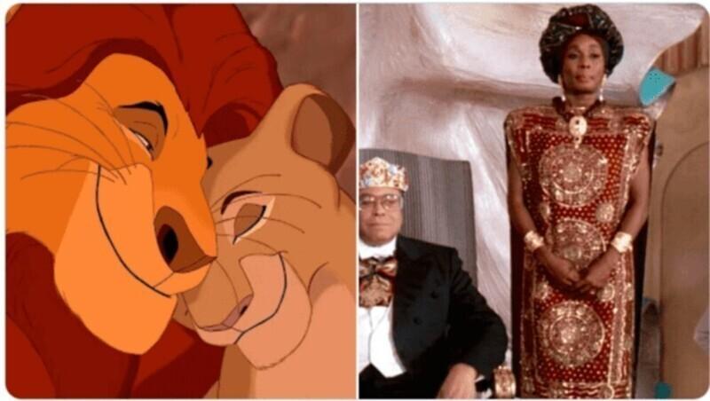 """Голосами Муфасы и Сараби из """"Короля Льва"""" говорили король и королева государства Замунда из фильма """"Поездка в Америку"""""""