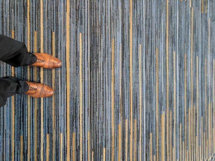 Не самое лучшее ковровое покрытие для лестницы