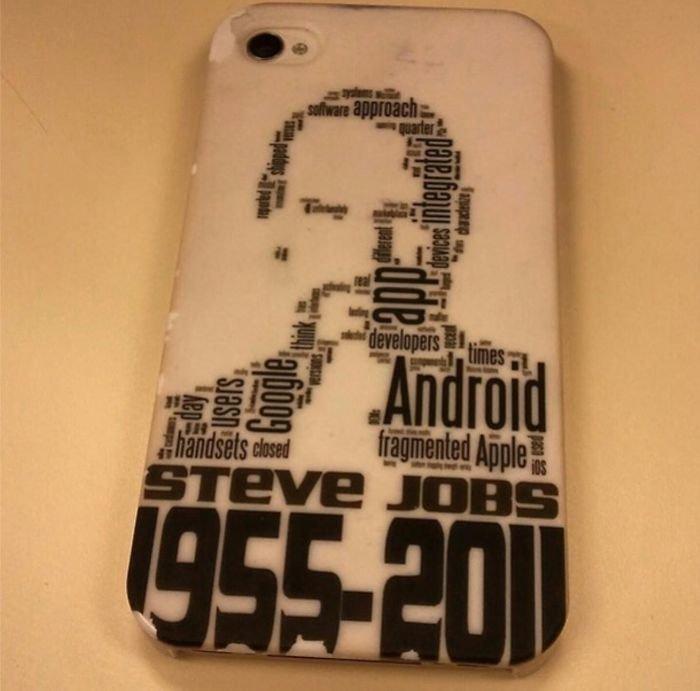 """Слово """"Андроид"""" в образе Стива Джобса"""